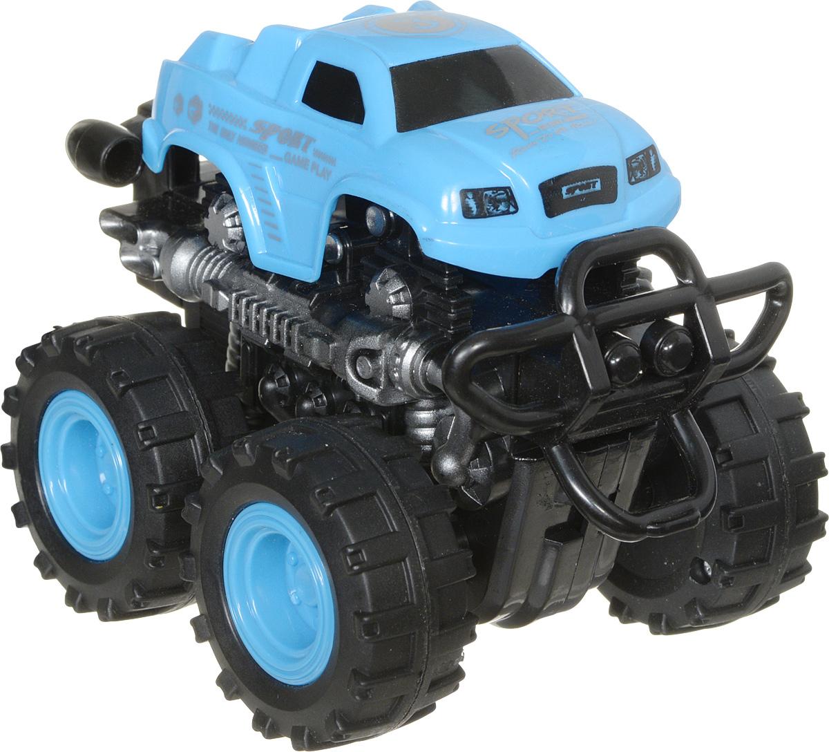 Big Motors Машинка инерционная 4WD цвет голубой806B_голубойИнерционная машинка Big Motors 4WD станет любимой игрушкой вашего малыша. Игрушка представляет собой внедорожник с огромными колесами. Машинка оснащена инерционным механизмом. Достаточно немного подтолкнуть машинку вперед или назад, а затем отпустить, и она сама поедет в ту же сторону. Ваш ребенок будет часами играть с этой машинкой, придумывая различные истории. Порадуйте его таким замечательным подарком!