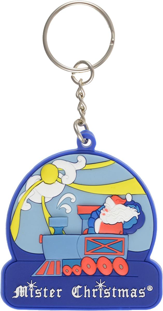 """Брелок """"Дед Мороз на паровозе"""" Mister Christmas PVC-15"""