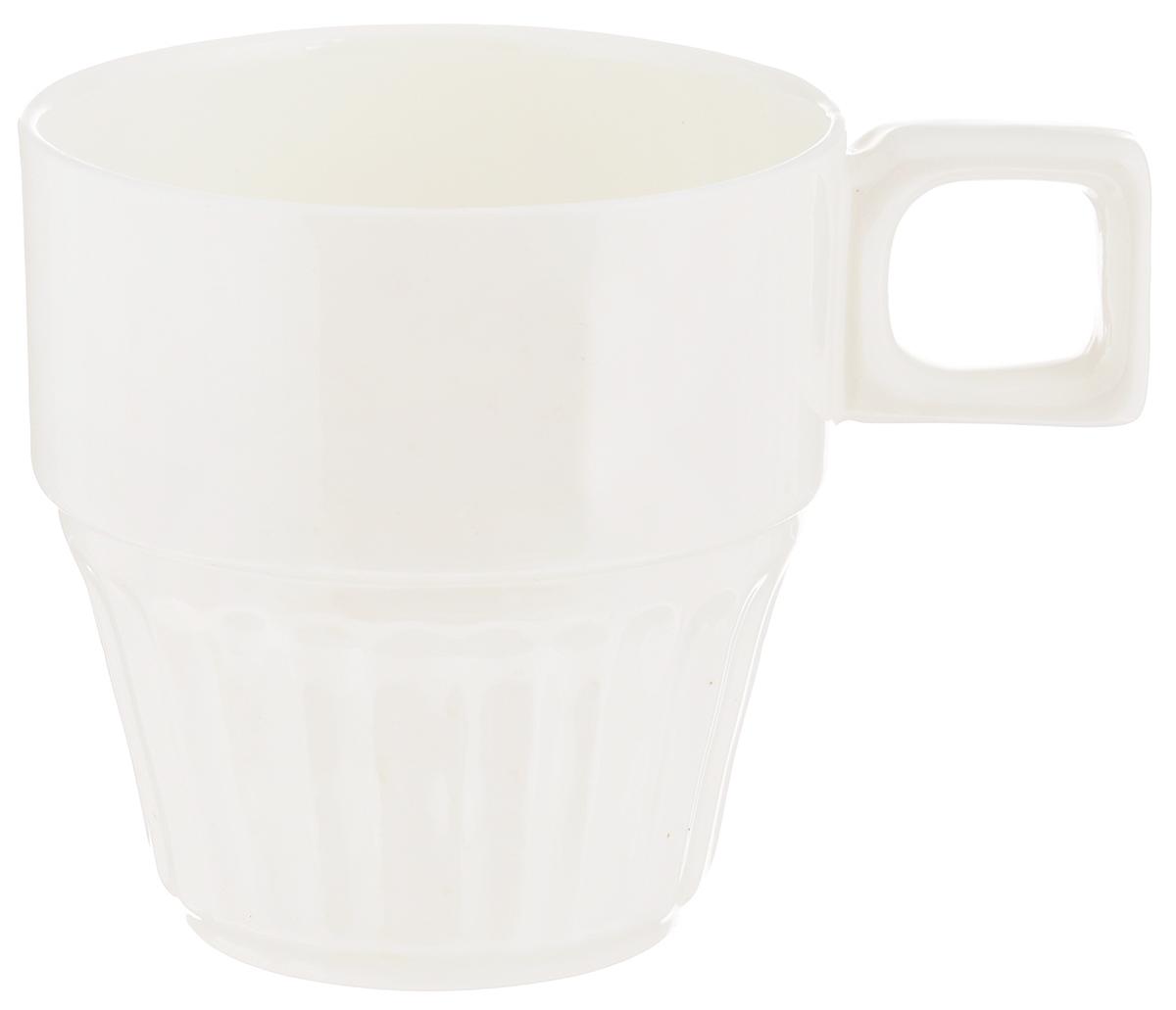 Чашка чайная Wilmax, штабелируемая, 250 мл. WL-993053WL-993053Чайная чашка Wilmax изготовлена из высококачественного фарфора, покрытого глазурью, и оформлена рельефом. Штабелируемая, то есть несколько чашек легко вставляются друг в друга. Такая чашка пригодится в любом хозяйстве, она функциональная, практичная и легкая в уходе. Диаметр (по верхнему краю): 7,5 см. Высота стенки: 8 см.