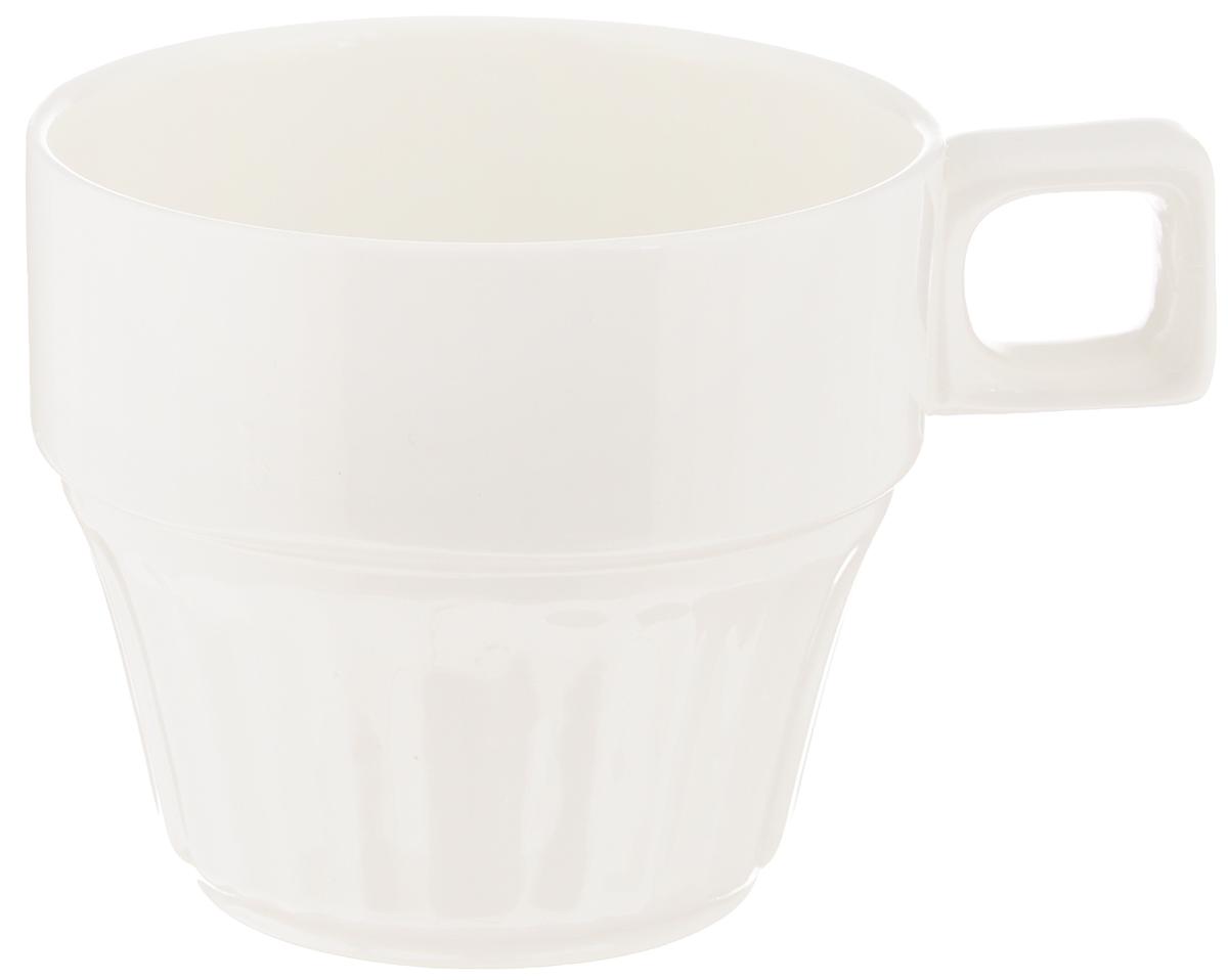 Чашка чайная Wilmax, штабелируемая, 220 мл. WL-993052 / AWL-993052 / AЧайная чашка Wilmax изготовлена из высококачественного фарфора, покрытого глазурью, и оформлена рельефом. Штабелируемая, то есть несколько чашек легко вставляются друг в друга. Такая чашка пригодится в любом хозяйстве, она функциональная, практичная и легкая в уходе. Можно мыть в посудомоечной машине и ставить в микроволновую печь. Диаметр (по верхнему краю): 7,5 см. Высота стенки: 6,5 см.