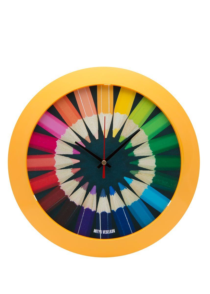 Часы настенные Mitya Veselkov Карандаши, цвет: желтый. MVC.NAST-003MVC.NAST-003