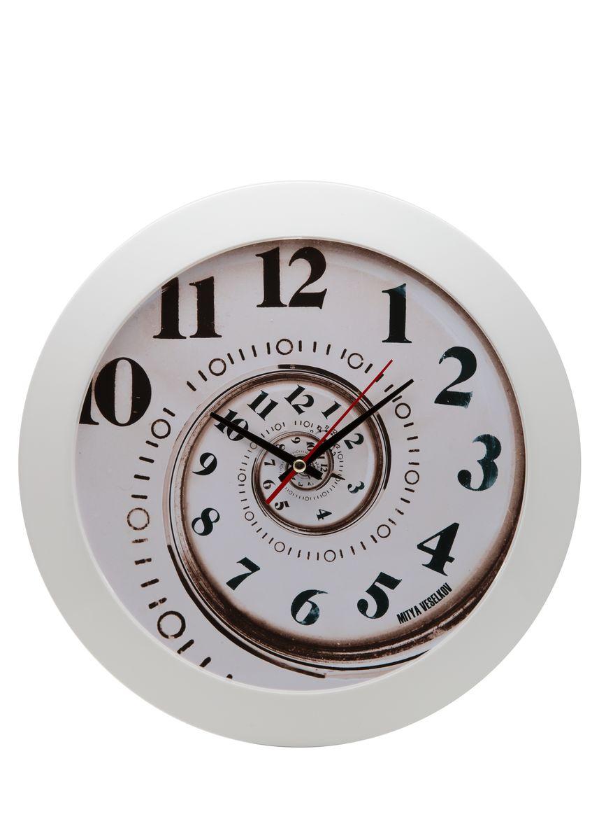 Часы настенные Mitya Veselkov Спираль времени, цвет: белый. MVC.NAST-012MVC.NAST-012