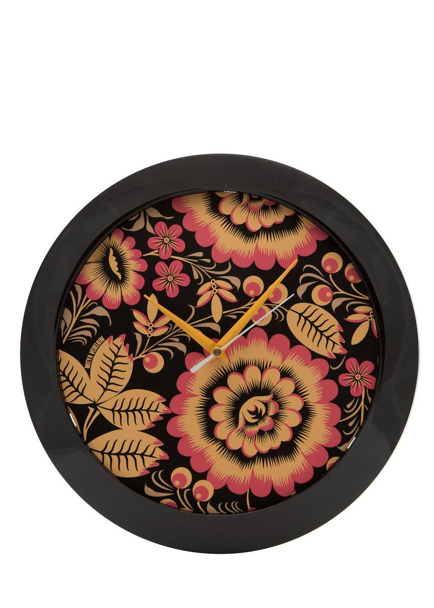 Часы настенные Mitya Veselkov Хохлома, цвет: черный. MVC.NAST-018MVC.NAST-018