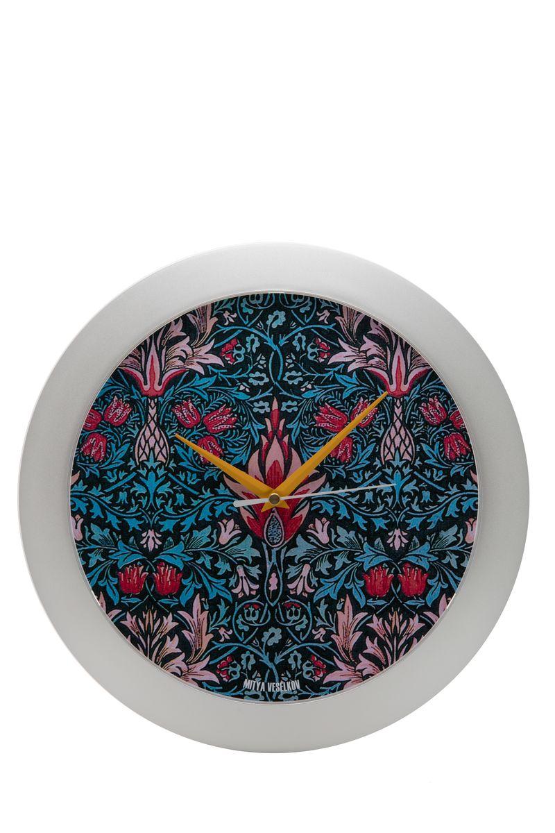 Часы настенные Mitya Veselkov Тюльпановый принт, цвет: белый. MVC.NAST-022MVC.NAST-022