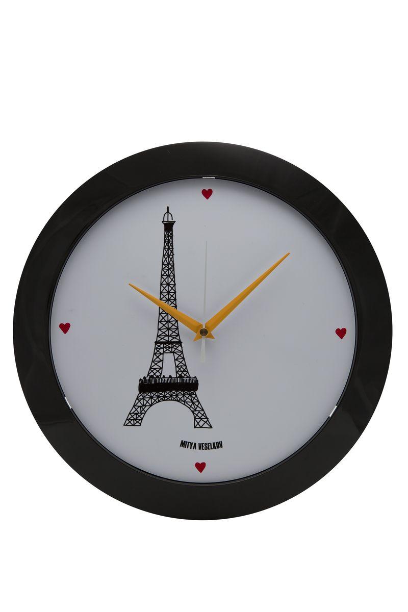Часы настенные Mitya Veselkov Париж, цвет: черный. MVC.NAST-032MVC.NAST-032