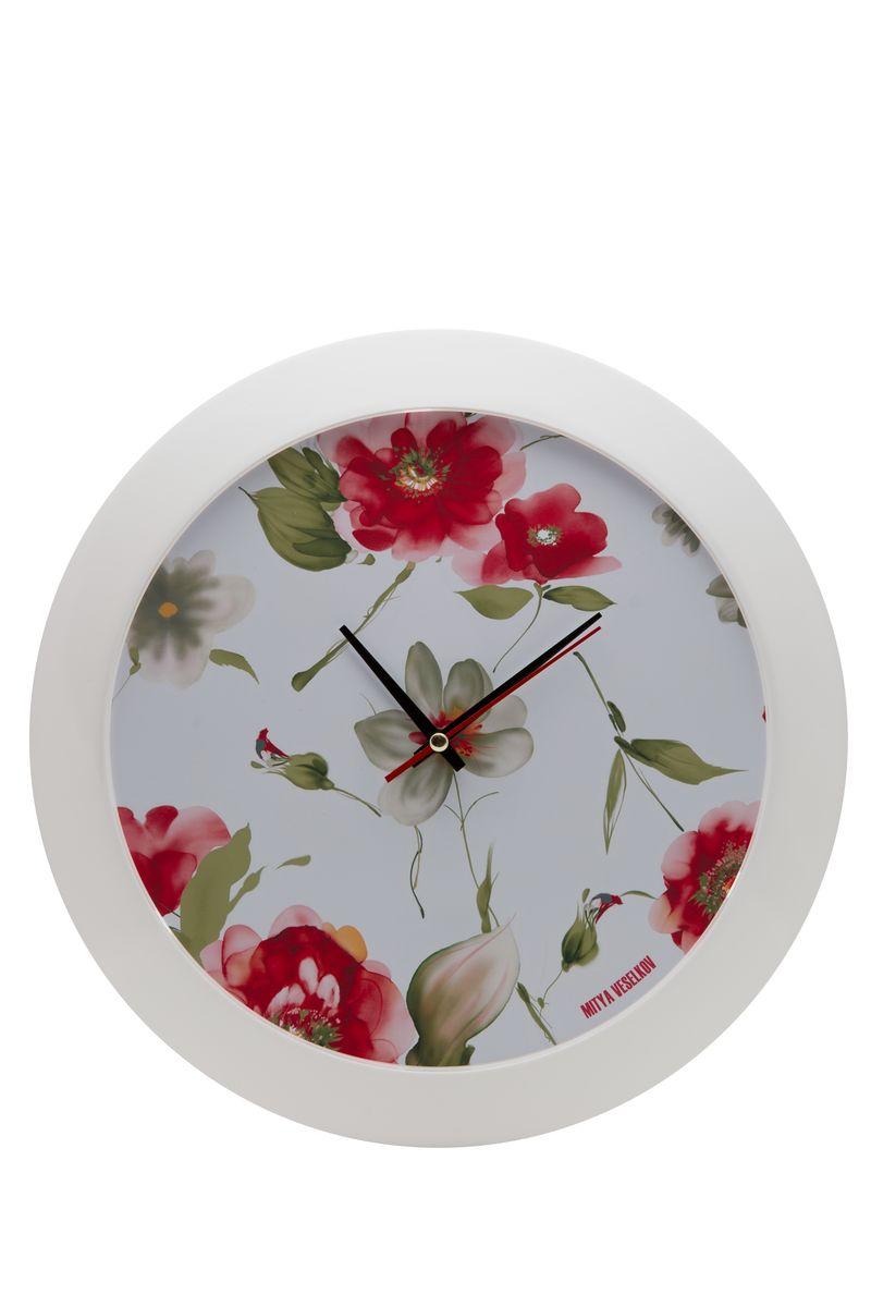 Часы настенные Mitya Veselkov Акварель, цвет: белый. MVC.NAST-035MVC.NAST-035