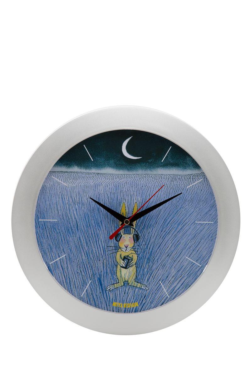Часы настенные Mitya Veselkov Заяц-меломан, цвет: белый. MVC.NAST-038MVC.NAST-038