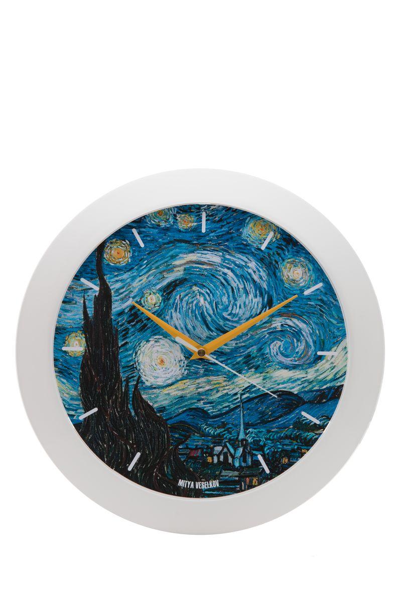 Часы настенные Mitya Veselkov Звездная ночь, цвет: белый. MVC.NAST-040MVC.NAST-040