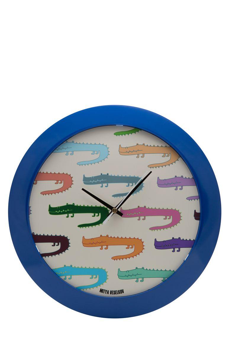 Часы настенные Mitya Veselkov Цветные крокодилы, цвет: синий. MVC.NAST-041MVC.NAST-041