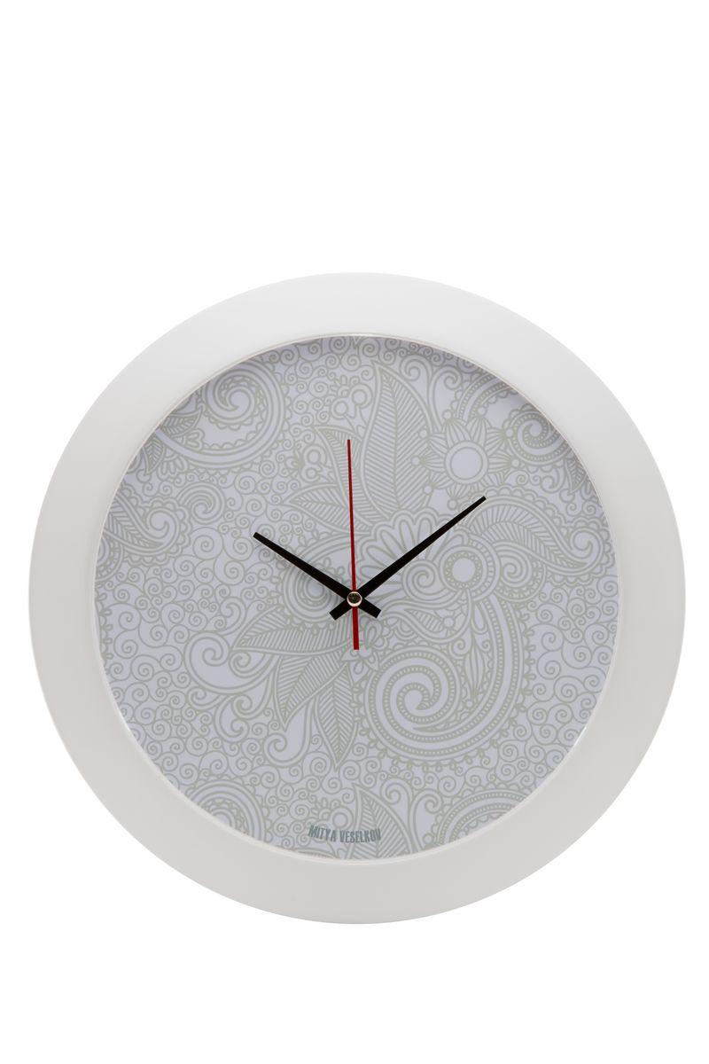 Часы настенные Mitya Veselkov Нежный узор, цвет: белый. MVC.NAST-042MVC.NAST-042