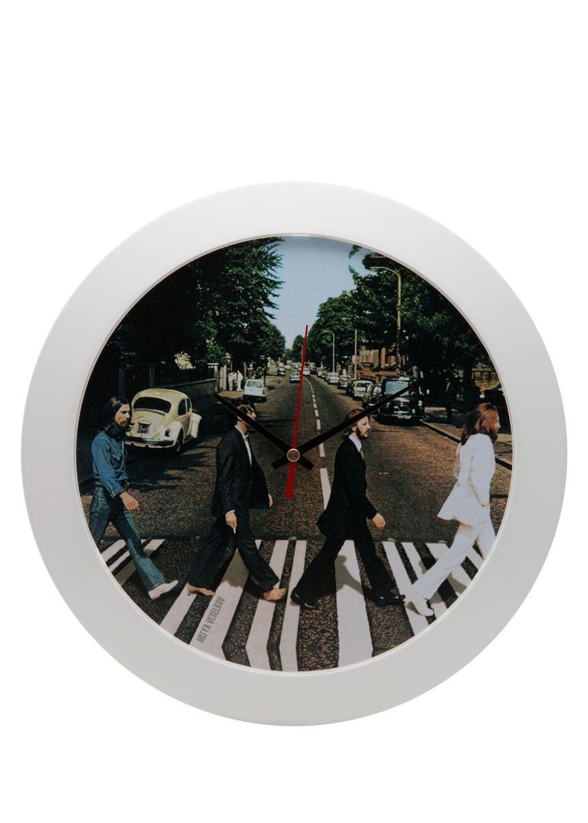 Часы настенные Mitya Veselkov Abbey Road, цвет: белый. MVC.NAST-053MVC.NAST-053