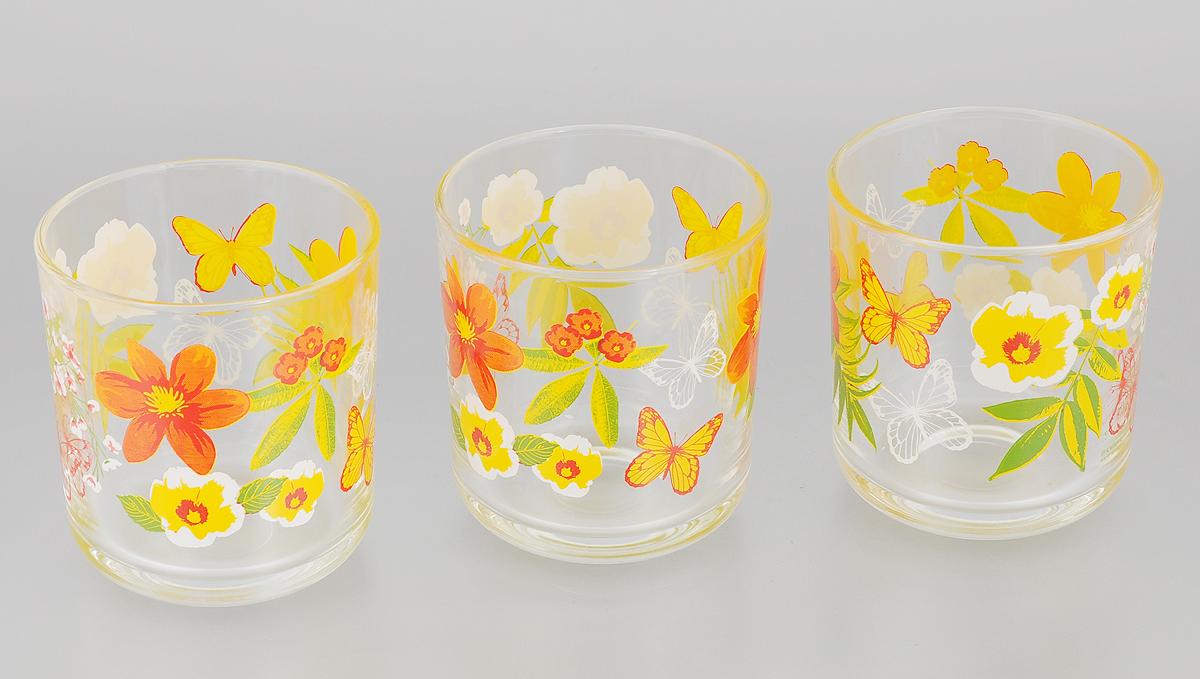 Набор стаканов Cerve Clio, 280 мл, 3 шт32865406_красный/жёлтыйНабор Cerve Clio состоит из 3 стаканов, изготовленных из высококачественного стекла. Изделия оформлены красочным изображением цветов и бабочек. Такой набор идеально подойдет для сервировки стола и станет отличным подарком к любому празднику. Разрешается мыть в посудомоечной машине. Диаметр стакана (по верхнему краю): 8 см. Высота стакана: 9 см.