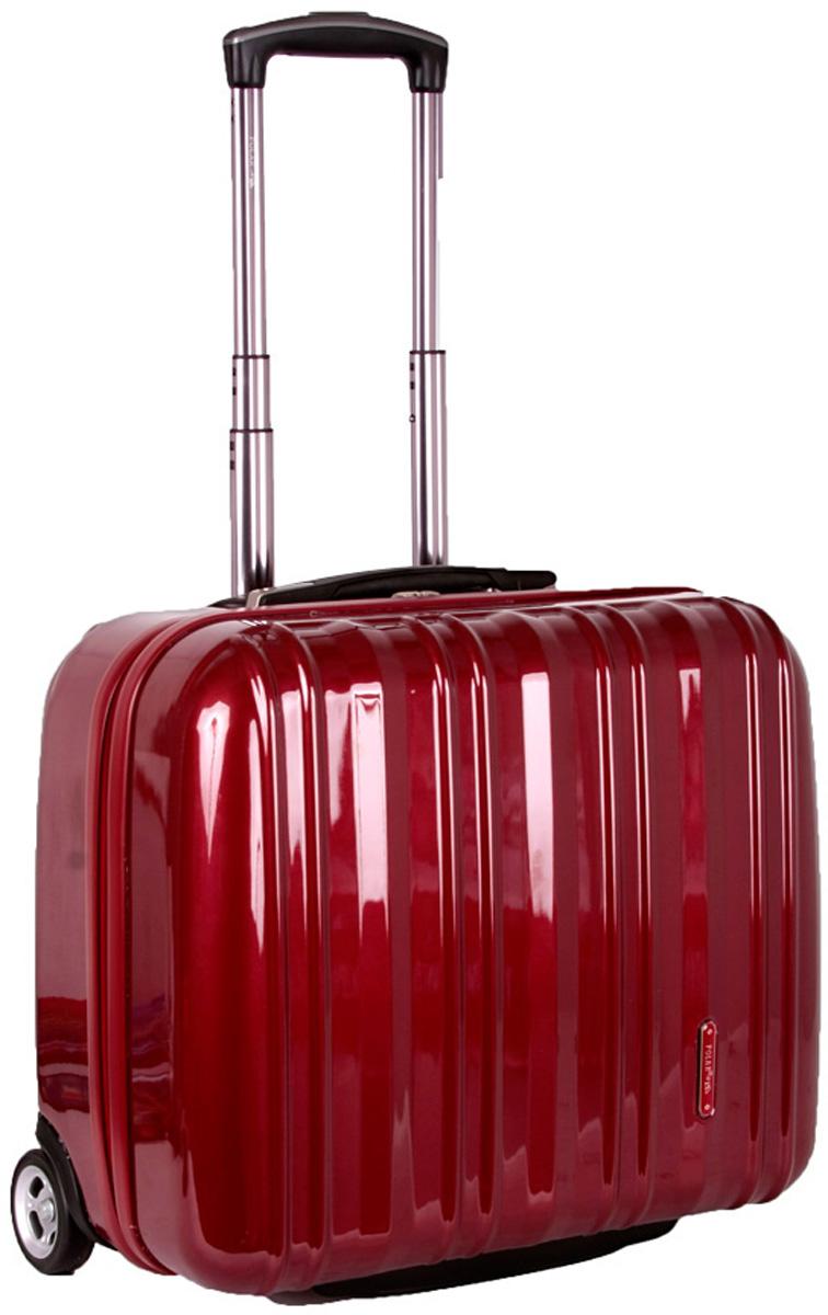 Чемодан пластиковый Polar, цвет: красный, 40,5 л, 41 х 45 х 22 см. Р1132(16)Р1132(16)Вес чемодана имеет большое значение после введения новых правил по авиа перевозке. Этот пластиковый чемодан весит намного меньше, чем обычные чемоданы из традиционных материалов. Материал ABS- пластик максимально устойчив к деформации. Кроме того, он обладает повышенной гибкостью, что позволяет материалу не ломаться и не трескаться при внешних нагрузках. Наши чемоданы отлично подходят для перевозки хрупких вещей. Пластик отлично защищает внутреннее содержание от любых внешних воздействий. Выдвижная металлическая ручка, выдвигается на 60 см. внутренняя тележка. Внутри: фиксаторы зажимы для Ваших вещей. Также предусмотрен кодовый замок. Эта универсальная модель идеально подойдет для краткосрочных командировок и позволит вам взять с собой, помимо ноутбука, еще и все самые необходимые для Вас вещи.