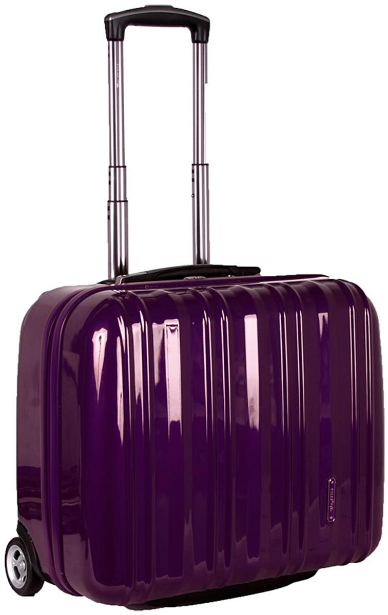 Чемодан пластиковый Polar, цвет: фиолетовый, 40,5 л, 41 х 45 х 22 см. Р1132(16)Р1132(16)Вес чемодана имеет большое значение после введения новых правил по авиа перевозке. Этот пластиковый чемодан весит намного меньше, чем обычные чемоданы из традиционных материалов. Материал ABS- пластик максимально устойчив к деформации. Кроме того, он обладает повышенной гибкостью, что позволяет материалу не ломаться и не трескаться при внешних нагрузках. Наши чемоданы отлично подходят для перевозки хрупких вещей. Пластик отлично защищает внутреннее содержание от любых внешних воздействий. Выдвижная металлическая ручка, выдвигается на 60 см. внутренняя тележка. Внутри: фиксаторы зажимы для Ваших вещей. Также предусмотрен кодовый замок. Эта универсальная модель идеально подойдет для краткосрочных командировок и позволит вам взять с собой, помимо ноутбука, еще и все самые необходимые для Вас вещи.