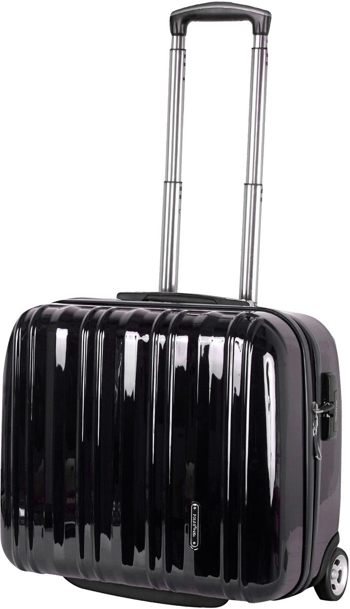 Чемодан пластиковый Polar, цвет: черный, 40,5 л, 41 х 45 х 22 см. Р1132(16)Р1132(16)Вес чемодана имеет большое значение после введения новых правил по авиа перевозке. Этот пластиковый чемодан весит намного меньше, чем обычные чемоданы из традиционных материалов. Материал ABS- пластик максимально устойчив к деформации. Кроме того, он обладает повышенной гибкостью, что позволяет материалу не ломаться и не трескаться при внешних нагрузках. Наши чемоданы отлично подходят для перевозки хрупких вещей. Пластик отлично защищает внутреннее содержание от любых внешних воздействий. Выдвижная металлическая ручка, выдвигается на 60 см. внутренняя тележка. Внутри: фиксаторы зажимы для Ваших вещей. Также предусмотрен кодовый замок. Эта универсальная модель идеально подойдет для краткосрочных командировок и позволит вам взять с собой, помимо ноутбука, еще и все самые необходимые для Вас вещи.