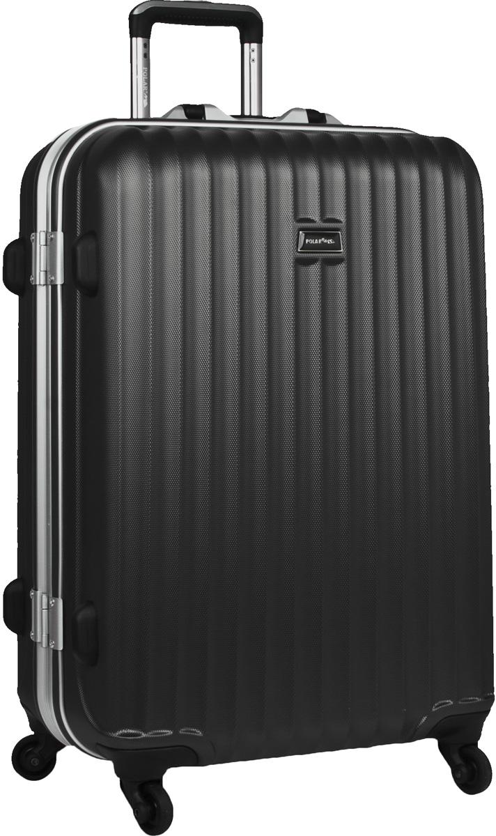 Чемодан пластиковый Polar, цвет: черный, 115 л, 50 х 72 х 32 смр1145(29)Материал ABS- пластик максимально устойчив к деформации. Кроме того он обладает повышенной гибкостью, что позволяет материалу не ломаться и не трескаться при внешних нагрузках. Наши чемоданы отлично подходят для перевозки хрупких вещей. Пластик отлично защищает внутреннее содержание от любых внешних воздействий. Еще один принципиальный момент- это количество колес. Чемодан с четырьмя колесиками на основании. Он более маневренный и удобный в обращении по отношению к двухколесным чемоданам. Можно просто выдвинуть ручку и катить его рядом с собой в любом направлении, при этом не будет никакой нагрузки на кисть, что очень важно, если чемодан у вас большой и тяжелый. Выдвигающаяся ручка выдвигается на 31 см. Внутри: карман из сетки на молнии, фиксатор с зажимом для ваших вещей. 4 колеса вращаются на 360 градусов. Замок с системой TSA .