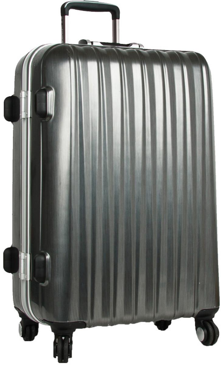 Чемодан пластиковый Polar, цвет: темно-серый, 40 л, 35 х 50 х 23 см. Р1155(20)Р1155(20)Материал ABS- пластик максимально устойчив к деформации. Кроме того он обладает повышенной гибкостью, что позволяет материалу не ломаться и не трескаться при внешних нагрузках. Наши чемоданы отлично подходят для перевозки хрупких вещей. Пластик отлично защищает внутреннее содержание от любых внешних воздействий. Еще один принципиальный момент- это количество колес. Чемодан с четырьмя колесиками на основании. Он более маневренный и удобный в обращении по отношению к двухколесным чемоданам. Можно просто выдвинуть ручку и катить его рядом с собой в любом направлении, при этом не будет никакой нагрузки на кисть, что очень важно, если чемодан у вас большой и тяжелый. Выдвигающаяся ручка выдвигается на 52 см. Внутри: карман из сетки на молнии, фиксатор с зажимом для ваших вещей. 4 колеса вращаются на 360 градусов. Кодовый замок с системой TSA.