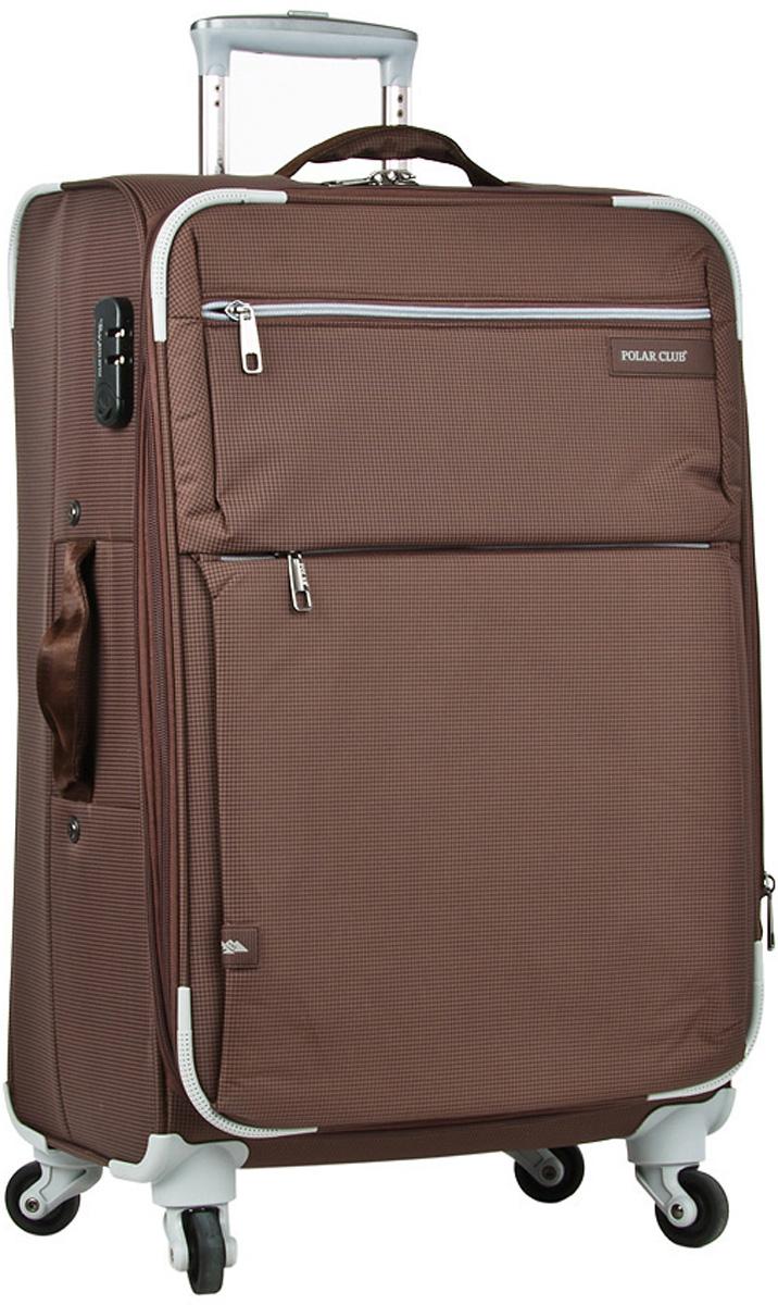 Чемодан мягкий Polar, цвет: кофейный, 37 л, 35 х 50 х 21 см. Р1891(20)Р1891(20)Чемодан фирмы Polar. Внутри чемодана имеются фиксирующие ремни и два дополнительных кармана на молнии. Специальное отделение для ноутбука до 15 дюймов. Также основное отделение можно увеличить в объеме, расстегнув молнию, при этом чемодан увеличивается в глубину на 5 см. Ручка выдвигается в два сложения на 50 см, расположена внутри корпуса чемодана, что способствует большей прочности и защите от ударов при разгрузке/погрузке чемодана. Снаружи на передней стенке — два больших кармана на молнии. Надежные четыре колеса на подшипниках, вращаются на 360° градусов. В комплекте идет кодовый замок.