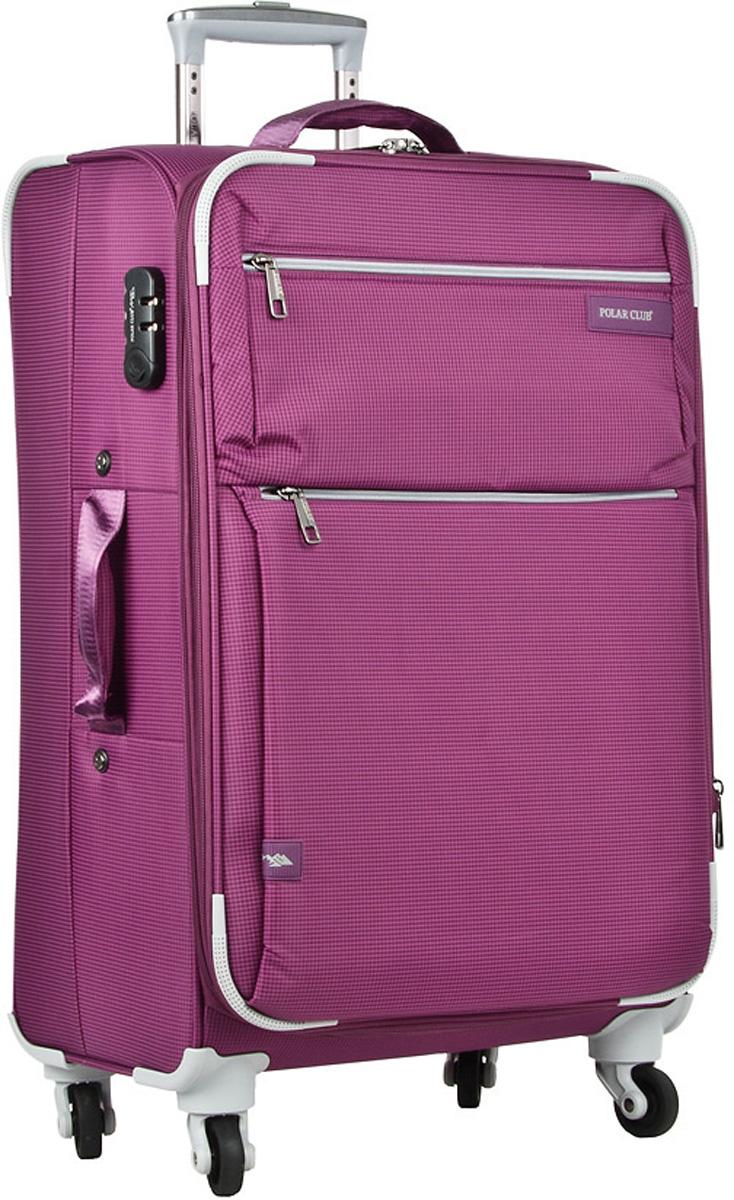 Чемодан мягкий Polar, цвет: фиолетовый, 37 л, 35 х 50 х 21 см. Р1891(20)Р1891(20)Чемодан фирмы Polar. Внутри чемодана имеются фиксирующие ремни и два дополнительных кармана на молнии. Специальное отделение для ноутбука до 15 дюймов. Также основное отделение можно увеличить в объеме, расстегнув молнию, при этом чемодан увеличивается в глубину на 5 см. Ручка выдвигается в два сложения на 50 см, расположена внутри корпуса чемодана, что способствует большей прочности и защите от ударов при разгрузке/погрузке чемодана. Снаружи на передней стенке — два больших кармана на молнии. Надежные четыре колеса на подшипниках, вращаются на 360° градусов. В комплекте идет кодовый замок.