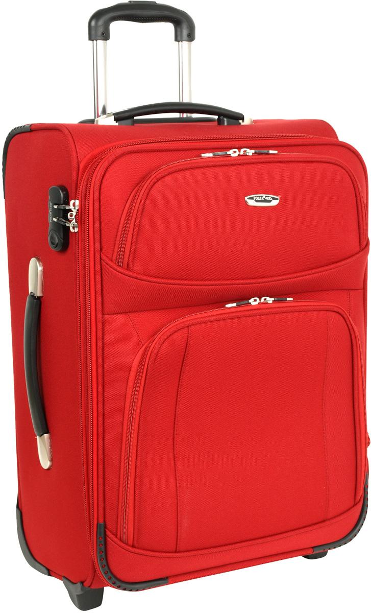 Чемодан мягкий Polar, цвет: красный, 74 л, 41 x 62 x 29 см. Р8042(24)Р8042(24)Материал – полиэстер. Долговечный и очень удобный чемодан с увеличением фирмы Polar. Прорезиненные колеса на подшипниках (2 шт.), выдвижная металлическая ручка (выдвигается в два сложения), внутренняя тележка. Две дополнительные ручки на клепках (с боку и сверху) для переноса чемодана в руках. Внутри фиксаторы с зажимами для ваших вещей. Снаружи: вместительный карман на молнии. Кодовый замок. Универсальный чемодан для всего самого необходимого.
