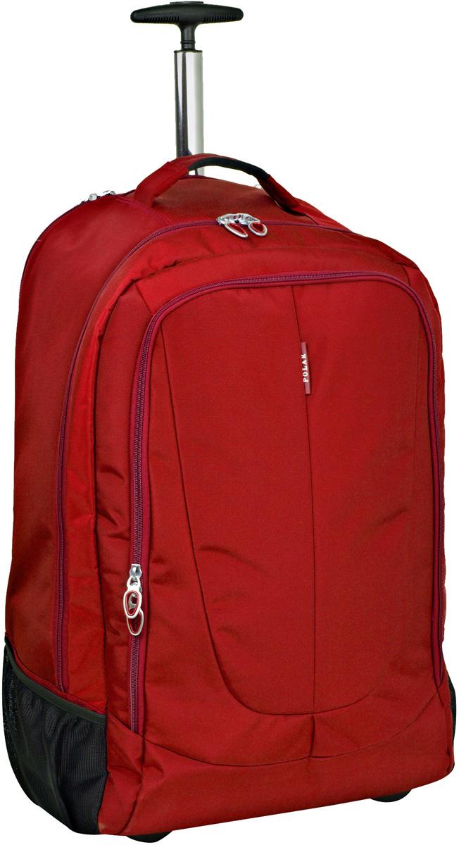 Чемодан-рюкзак Polar, на колесах, цвет: красный, 46 л, 38 х 55 х 22 см. Р8293(22)Р8293(22)Чемодан-рюкзак на колесах фирмы POLAR. Чемодан не имеет каркаса, можно сложить при хранении. На задней стенке чемодана спрятаны под молнию рюкзачные лямки которые можно достать расстегнув молнию. Внутри: большое отделение с фиксаторами и зажимами для ваших вещей. Выдвигающая ручка складывается и закрывается на молнию. Снаружи - карман на молнии.
