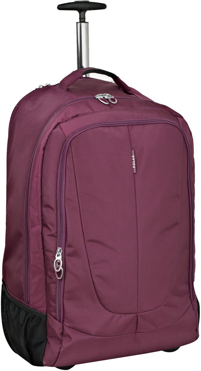 Чемодан-рюкзак Polar, на колесах, цвет: фиолетовый, 32 л, 35 x 48 x 19 смР8293(19)Чемодан-рюкзак на колесах фирмы POLAR. Чемодан не имеет каркаса, можно сложить при хранении. На задней стенке чемодана спрятаны под молнию рюкзачные лямки которые можно достать расстегнув молнию. Внутри: большое отделение с фиксаторами и зажимами для ваших вещей. Выдвигающая ручка складывается и закрывается на молнию. Снаружи - карман на молнии.