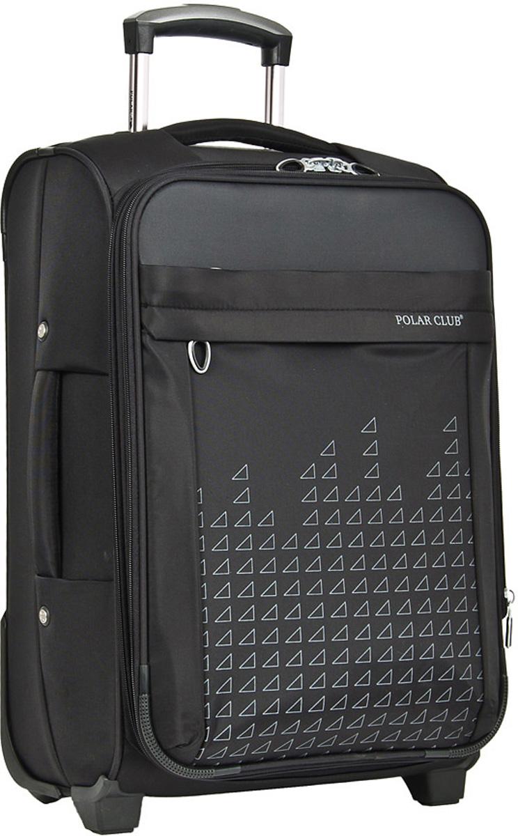 Чемодан мягкий Polar, цвет: черный, 58,5 л, 41 х 62 х 23 см. Р8635(24)Р8635(24)Суперлегкий Чемодан Polar средний. Основное отделение на подкладке из нейлона имеет фиксирующие ремни и карман-портплед для глаженых вещей. Также, основное отделение можно увеличить в объеме, расстегнув молнию, при этом чемодан увеличивается в толщину на 5см. Выдвигающаяся ручка расположена внутри корпуса чемодана, что способствует большей прочности и защите от ударов при разгрузке/погрузке чемодана. Выдвигающаяся ручка фиксируется в двух положениях. Снаружи на передней стенке — большой карман на молнии. Есть кодовый замок. Надежные два прорезиненных колеса на подшипниках, диаметр 6 см.