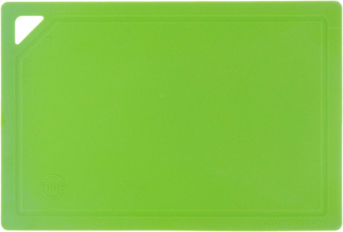 Доска разделочная TimA, гибкая, цвет: салатовый, 31 х 21 х 0,3 смДРГ-3022_салатовыйГибкая разделочная доска TimA изготовлена из полиуретана и обладает уникальными свойствами. Гигиенична. Не вступает в химическую реакцию с продуктами, не выделяет вредных веществ, предотвращает размножение болезнетворных микроорганизмов на поверхности доски. Безопасна. Доска плотно прилегает к любой поверхности стола или столешницы, не скользит. По краю проходит небольшой желоб, который предохраняет от растекания жидкости. Комфортна. Удобно высыпать нарезанные продукты даже в небольшую посуду, не уронив ни единого кусочка. Подходит для керамических ножей. Долговечна. Благодаря исключительным свойствам полиуретана, срок службы такой доски значительно выше, чем досок из дерева и пластика. Доски выпускаются в разных цветах, что позволяет использовать их для определенного вида продуктов. Зеленая - для овощей, красная - для мяса, синяя - для морепродуктов, желтая - для птицы, белая - для молочных продуктов. Простота в уходе. Благодаря...