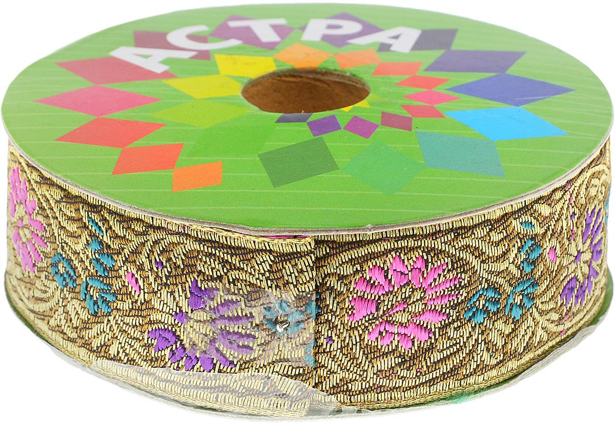 Тесьма декоративная Астра, цвет: болотный, фиолетовый (С20), ширина 3 см, длина 9 м. 77034417703441_С20Декоративная тесьма Астра выполнена из текстиля и оформлена оригинальным жаккардовым орнаментом. Такая тесьма идеально подойдет для оформления различных творческих работ таких, как скрапбукинг, аппликация, декор коробок и открыток и многое другое. Тесьма наивысшего качества и практична в использовании. Она станет незаменимым элементом в создании рукотворного шедевра. Ширина: 3 см. Длина: 9 м.