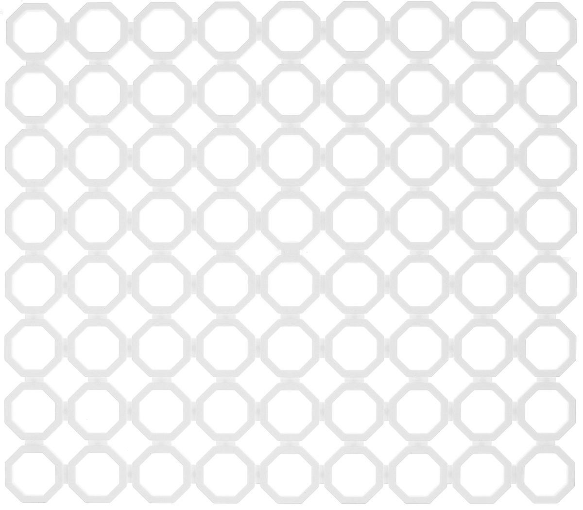 Коврик для раковины York, цвет: белый, 29 х 25,7 см9562_белыйСтильный и удобный коврик для раковины York изготовлен из сложных полимеров. Он одновременно выполняет несколько функций: украшает, защищает мойку от царапин и сколов, смягчает удары при падении посуды в мойку. Коврик также можно использовать для сушки посуды, фруктов и овощей. Он легко очищается от грязи и жира.