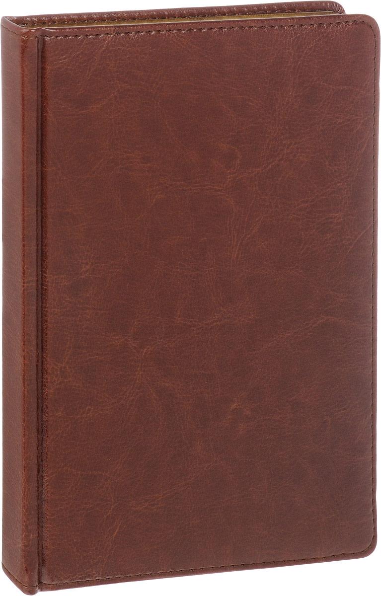 Альт Ежедневник Sidney Nebraska недатированный 136 листов в линейку цвет коричневый