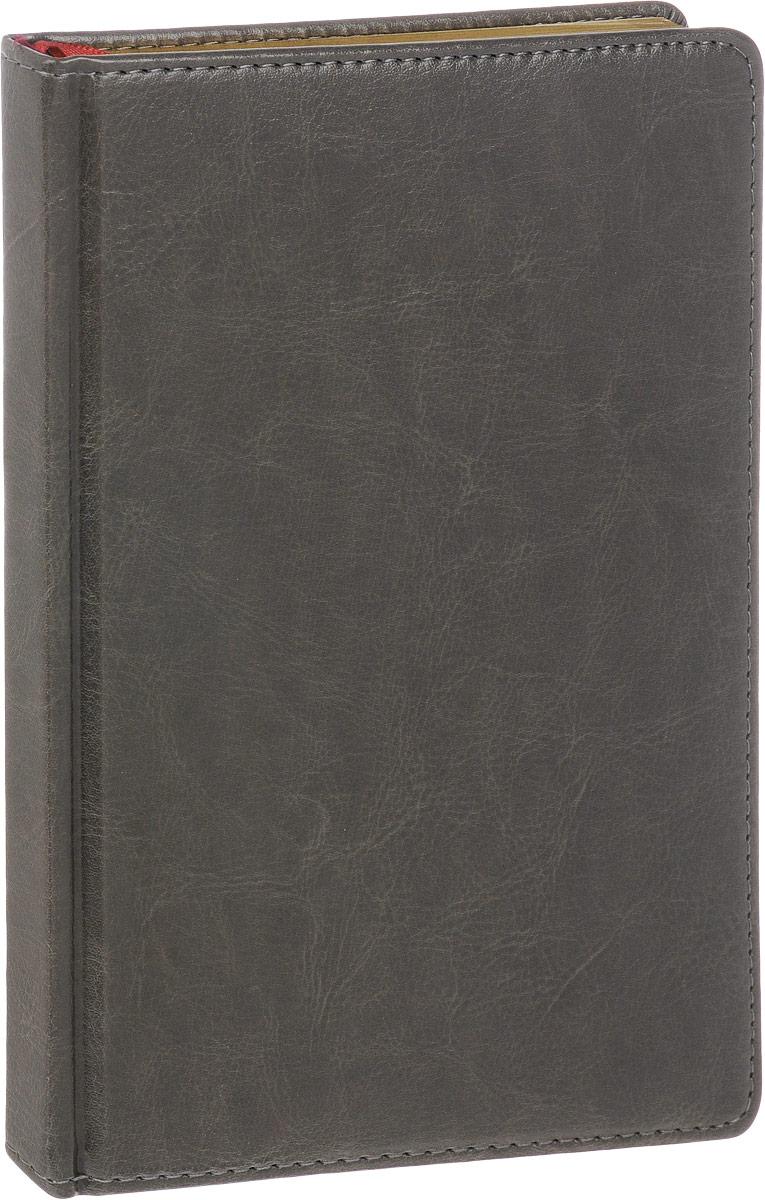 Альт Ежедневник Sidney Nebraska недатированный 136 листов в линейку цвет серый