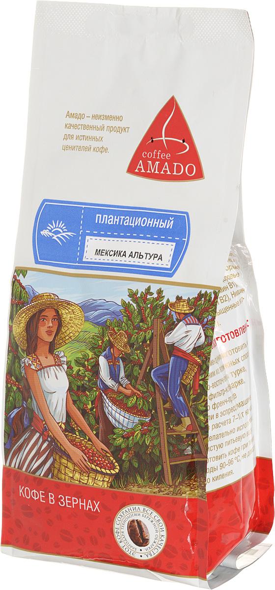 AMADO Мексика Альтура кофе в зернах, 200 г4607064130580На побережье Мексиканского залива в гористой местности производят прекрасный кофе, отличающийся нежным цветочным ароматом и мягким сладковатым вкусом с оттенком какао. Рекомендуемый способ приготовления: по-восточному, френч-пресс, фильтр-кофеварка, эспрессо-машина.