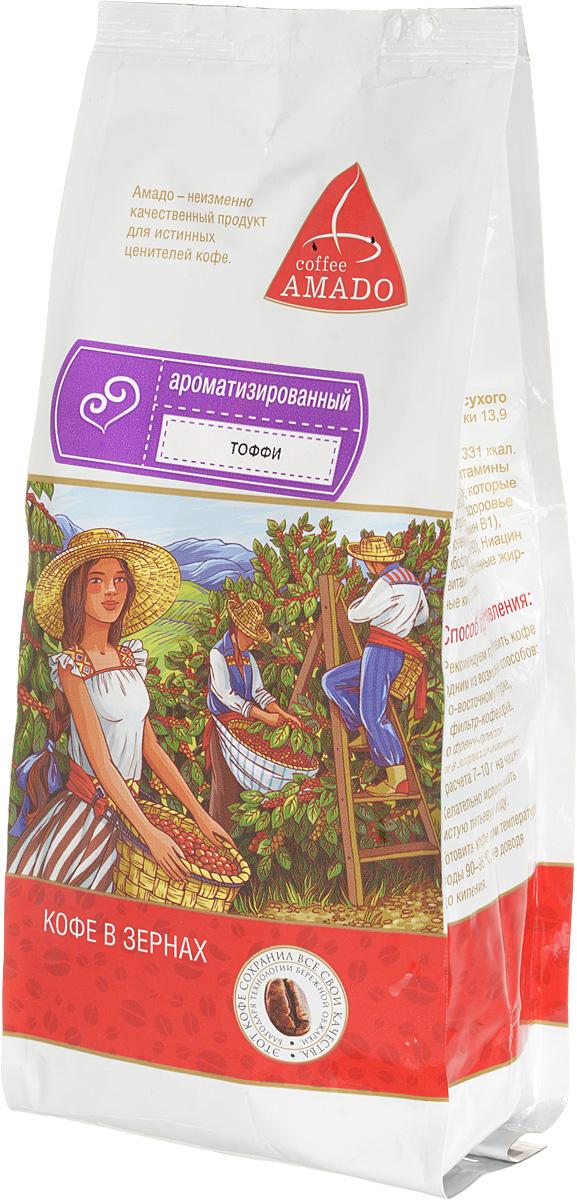 AMADO Тоффи кофе в зернах, 200 г4607064130764Богатый вкус свежеобжаренного кофе AMADO Тоффи отлично сочетается со сладостью шоколада и сливочным ароматом. Рекомендуемый способ приготовления: по-восточному, френч-пресс, гейзерная кофеварка, фильтр-кофеварка, кемекс, аэропресс.