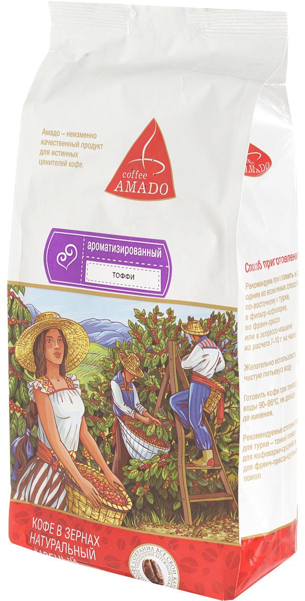 AMADO Тоффи кофе в зернах, 500 г4607064132607Богатый вкус свежеобжаренного кофе AMADO Тоффи отлично сочетается со сладостью шоколада и сливочным ароматом. Рекомендуемый способ приготовления: по-восточному, френч-пресс, гейзерная кофеварка, фильтр-кофеварка, кемекс, аэропресс.