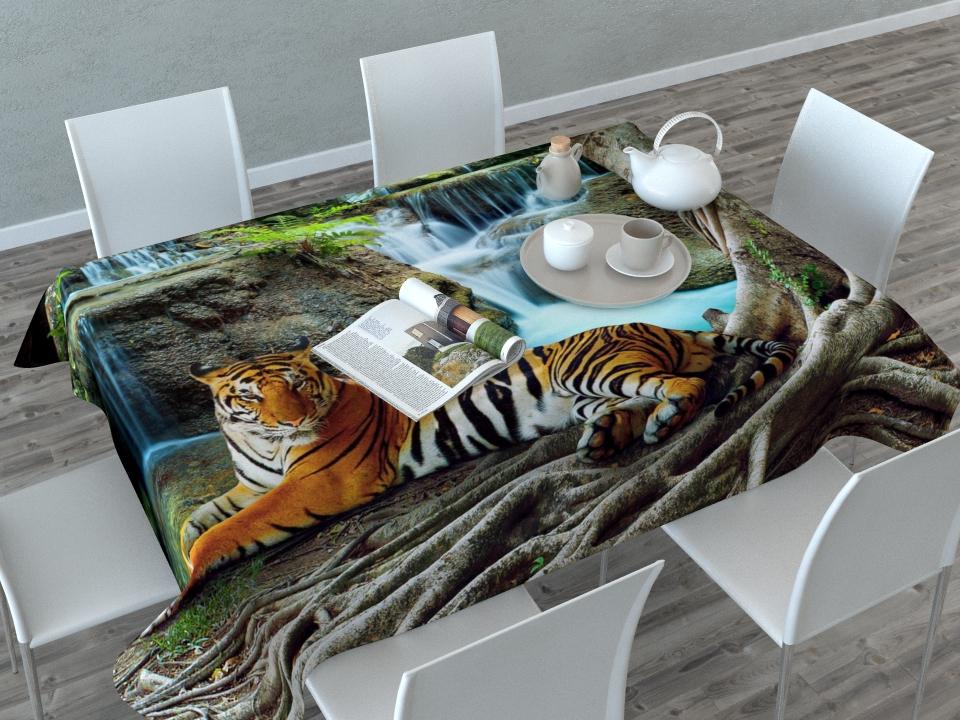 Скатерть Сирень Индийский тигр, прямоугольная, 145 x 120 см02648-СК-ГБ-003Прямоугольная скатерть Сирень Индийский тигр с ярким и объемным рисунком, выполненная из габардина, преобразит вашу кухню, визуально расширит пространство, создаст атмосферу радости и комфорта. Рекомендации по уходу: стирка при 30 градусах, гладить при температуре до 110 градусов. Размер скатерти: 145 х 120 см. Изображение может немного отличаться от реального.