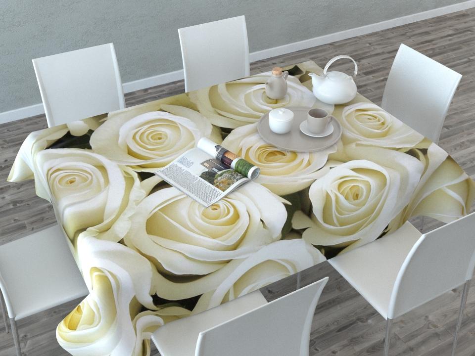 Скатерть Сирень Душистые розы, прямоугольная, 145 x 120 см02331-СК-ГБ-003Скатерть Сирень с ярким и объемным рисунком преобразит Вашу кухню, визуально расширит пространство, создаст атмосферу радости и комфорта. Рекомендации по уходу: стирка при 30 градусах гладить при температуре до 110 градусов Изображение может немного отличаться от реального.