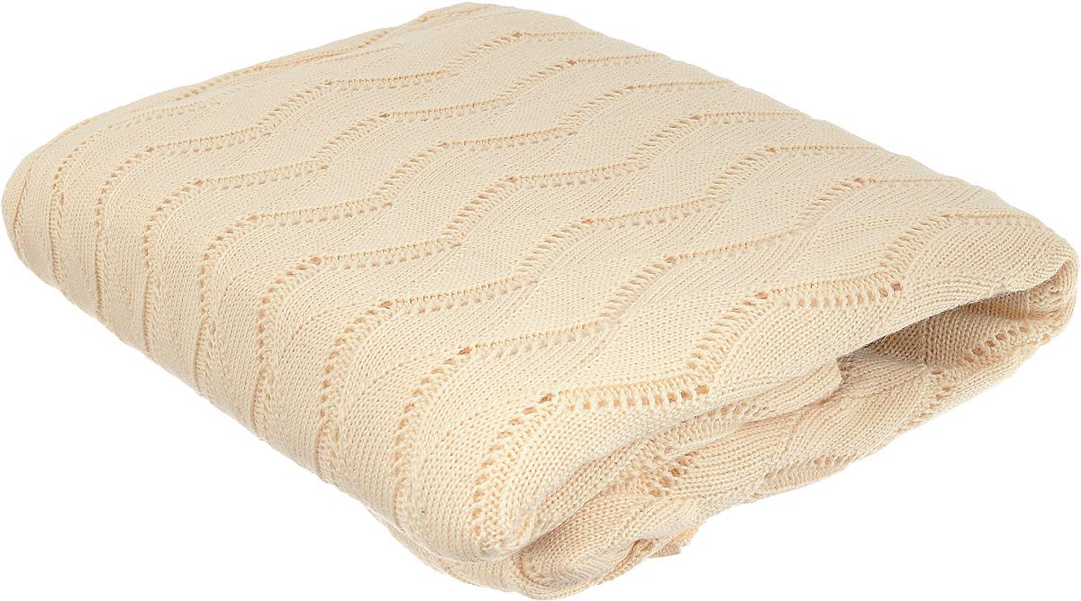 Плед Tiffanys Secret Ажур, цвет: ванильный раф, 140 х 180 см6040116383Вязаный плед Tiffanys Secret Ажур послужит теплым, мягким и практичным подарком близким людям. Плед, изготовленный из 30% шерсти и 70% акрила, мягкий, приятный на ощупь, обладает низкой теплопроводностью. Изделие весь срок использования сохраняет размер и достойный вид. Оригинальный и приятный на ощупь плед Tiffanys Secret Ажур непременно займет достойное место в вашем доме.