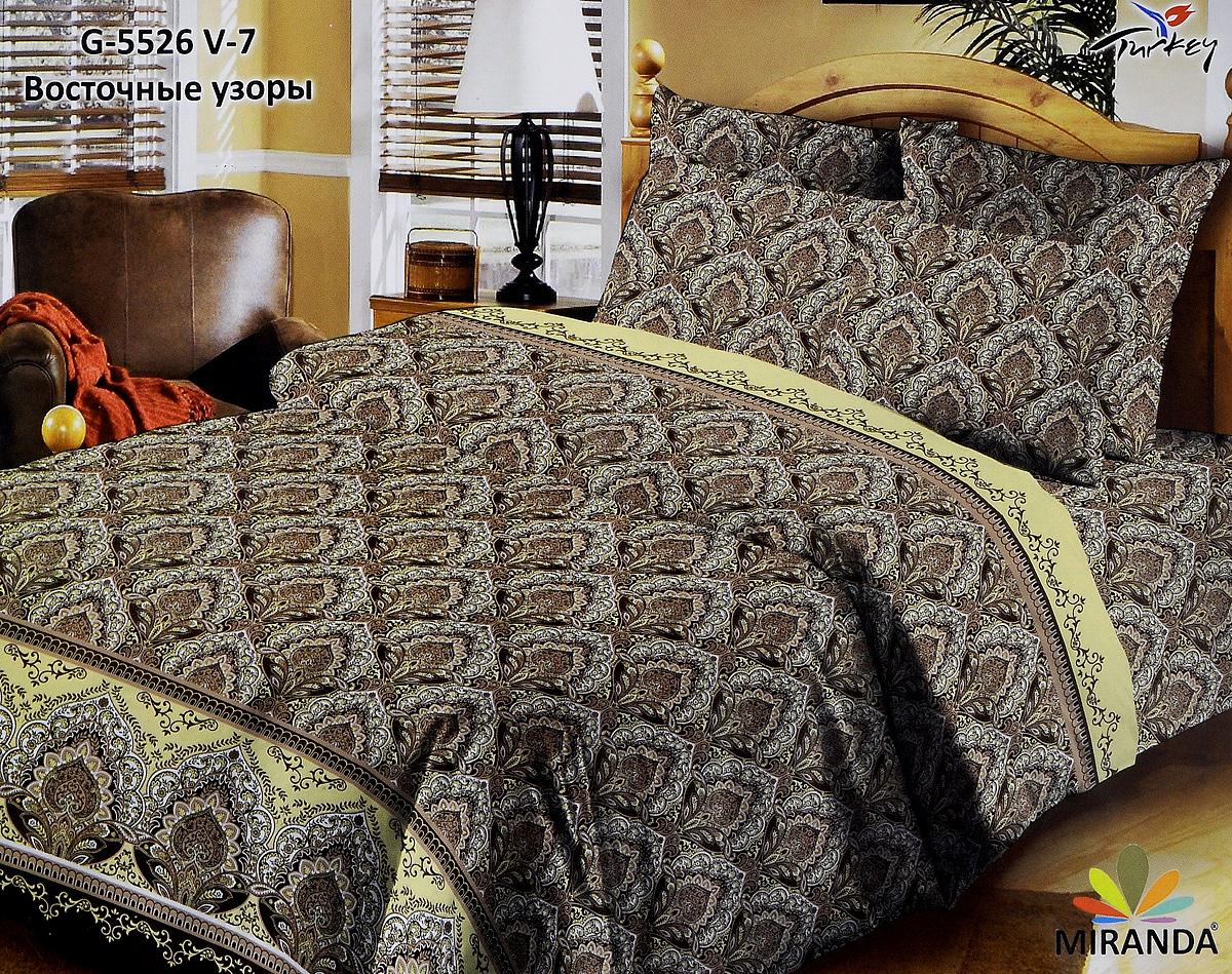 Комплект белья Liya Home Collection Восточные узоры, 2-спальный, наволочки 70x70, цвет: коричневый1515150000204Комплект белья Liya Home Collection Восточные узоры, выполненный из смесовой ткани (хлопка и полиэстера (искусственный шелк)), состоит из пододеяльника, простыни и двух наволочек. Хлопок — волокно растительного происхождения, покрывающее семена хлопчатника, важнейшее и наиболее дешёвое, распространённое растительное волокно. Полиэстер - это общее название полиэфирных волокон и материалов, получаемых из расплавов полиэтилентерефталата. Ткань обладает высокой прочностью и износостойкостью. Хорошо сохраняет форму, не мнется, устойчива к свету. Приобретая комплект постельного белья Liya Home Collection Восточные узоры, вы можете быть уверенны в том, что покупка доставит вам и вашим близким удовольствие и подарит максимальный комфорт.