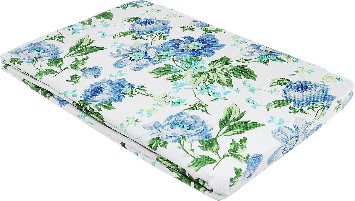 Скатерть Bonita, цвет: синий, зеленый, белый, 145 х 180 см. 11012101211101210121Великолепная скатерть Bonita, изготовленная из натурального хлопка, создаст атмосферу уюта и домашнего тепла в интерьере вашей кухни. Скатерть органично впишется в интерьер любого помещения, а оригинальный мотив удовлетворит даже самый изысканный вкус. В современном мире кухня - это не просто помещение для приготовления и приема пищи. Это особое место, где собирается вся семья и царит душевная атмосфера.