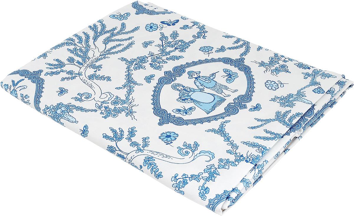 Скатерть Bonita Жуи, цвет: голубой, синий, белый, 125 х 150 см10010815041Великолепная скатерть Bonita Жуи, изготовленная из натурального хлопка, создаст атмосферу уюта и домашнего тепла в интерьере вашей кухни. Скатерть органично впишется в интерьер любого помещения, а оригинальный мотив удовлетворит даже самый изысканный вкус. В современном мире кухня - это не просто помещение для приготовления и приема пищи. Это особое место, где собирается вся семья и царит душевная атмосфера.