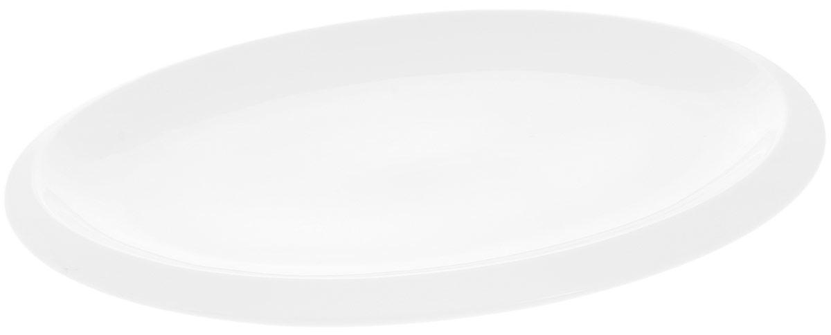 Блюдо Wilmax, овальное, 41 х 28 смWL-992642 / AБлюдо Wilmax овальной формы изготовлено из высококачественного фарфора с глазурованным покрытием. Материал легкий, тонкий, свет без труда проникает сквозь изделие. Посуда имеет роскошную белизну, гладкость и блеск достигаются за счет особой рецептуры глазури. Изделие обладает низкой водопоглощаемостью, высокой термостойкостью и ударопрочностью, а также экологичностью. Посуда долговечна и рассчитана на постоянное интенсивное использование. Гладкая непористая поверхность исключает проникновение бактерий, изделие не будет впитывать посторонние запахи и сохранит первоначальный цвет. Блюдо прекрасно подойдет для подачи различных закусок, нарезок, сладостей, фруктов. Такое блюдо украсит ваш праздничный или обеденный стол, а оригинальный дизайн придется по вкусу и ценителям классики, и тем, кто предпочитает утонченность и изысканность. Можно мыть в посудомоечной машине и использовать в микроволновой печи.