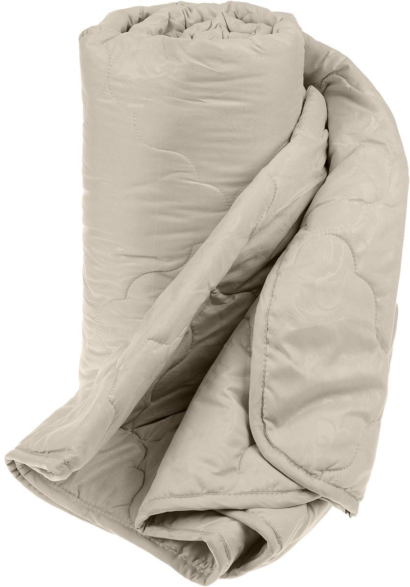 Одеяло Sova & Javoronok, наполнитель: верблюжья шерсть, микрофибра, цвет: бежевый, 140 х 205 см5030116348Чехол одеяла Sova & Javoronok выполнен из высококачественной микрофибры (100% полиэстера). Наполнитель одеяла изготовлен из верблюжьей шерсти и полиэфирного волокна. Стежка надежно удерживает наполнитель внутри и не позволяет ему скатываться. Особенности наполнителя: - исключительные терморегулирующие свойства; - высокое качество прочеса и промывки шерсти; - великолепные ощущения комфорта и уюта. Верблюжья шерсть обладает целебными качествами, содержит наиболее высокий процент ланолина (животного воска), который является природным антисептиком и благоприятно воздействует на организм по целому ряду показателей: оказывает благотворное действие на мышцы, суставы, позвоночник, нормализует кровообращение, имеет профилактический эффект при заболевания опорно-двигательного аппарата. Кроме того, верблюжья шерсть антистатична. Шерсть верблюда сохраняет прохладу в период жаркого лета и удерживает тепло во время суровой зимы. ...