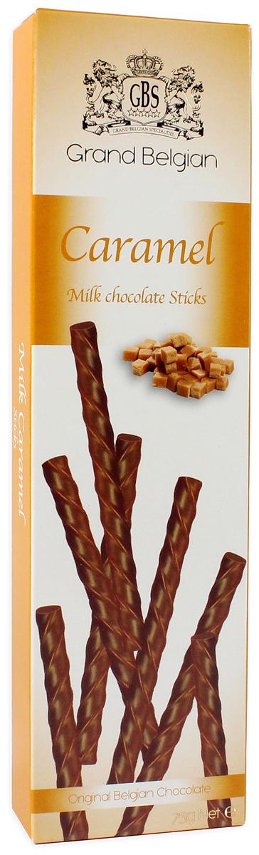 GBS Палочки из молочного шоколада с ароматом карамели, 75 г7.14.11Классическое сочетание - молочный шоколад от лучших шоколатье Бельгии и искристая насыщенная карамель. Она подарит изумительный вкус прелестным десертным палочкам, которые безумно хочется попробовать! Уважаемые клиенты! Обращаем ваше внимание, что полный перечень состава продукта представлен на дополнительном изображении.