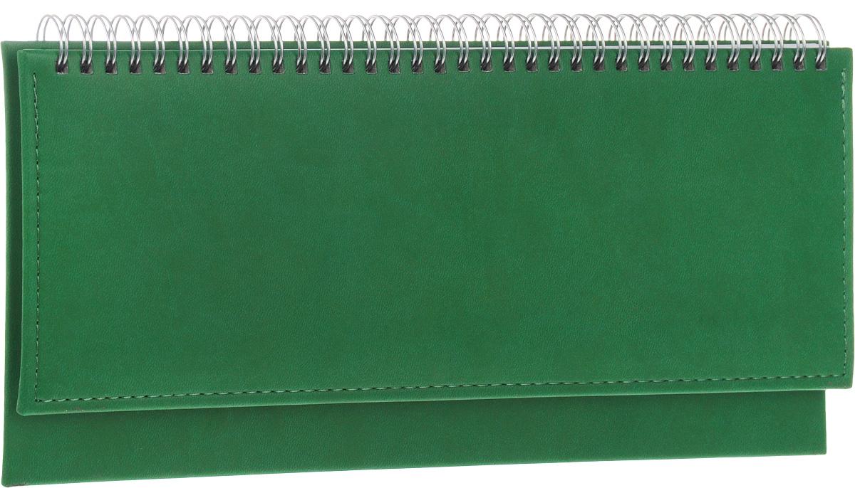 Альт Планинг Velvet недатированный 64 листа в линейку цвет зеленый