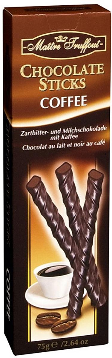 Gunz Warenhandels Палочки из горького и молочного шоколада с кофейной начинкой