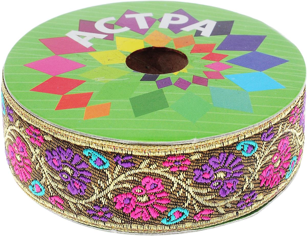 Тесьма декоративная Астра, цвет: коричневый (С22), ширина 3 см, длина 9 м. 77034247703424_C22Декоративная тесьма Астра выполнена из текстиля и оформлена оригинальным жаккардовым орнаментом. Такая тесьма идеально подойдет для оформления различных творческих работ таких, как скрапбукинг, аппликация, декор коробок и открыток и многое другое. Тесьма наивысшего качества и практична в использовании. Она станет незаменимым элементом в создании рукотворного шедевра. Ширина: 3 см. Длина: 9 м.