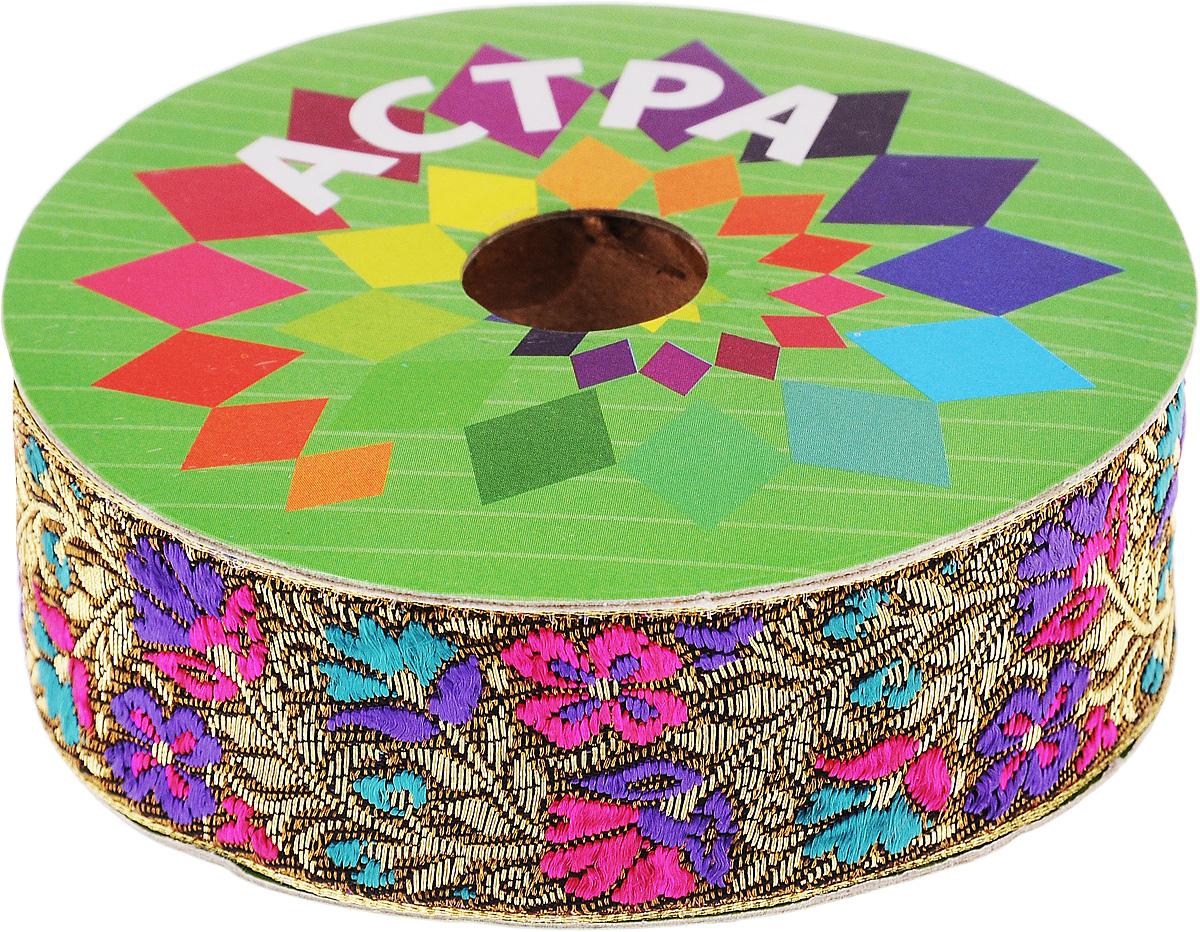 Тесьма декоративная Астра, цвет: болотный (С22), ширина 3 см, длина 9 м. 77034437703443_С22Декоративная тесьма Астра выполнена из текстиля и оформлена оригинальным жаккардовым орнаментом. Такая тесьма идеально подойдет для оформления различных творческих работ таких, как скрапбукинг, аппликация, декор коробок и открыток и многое другое. Тесьма наивысшего качества и практична в использовании. Она станет незаменимым элементом в создании рукотворного шедевра. Ширина: 3 см. Длина: 9 м.