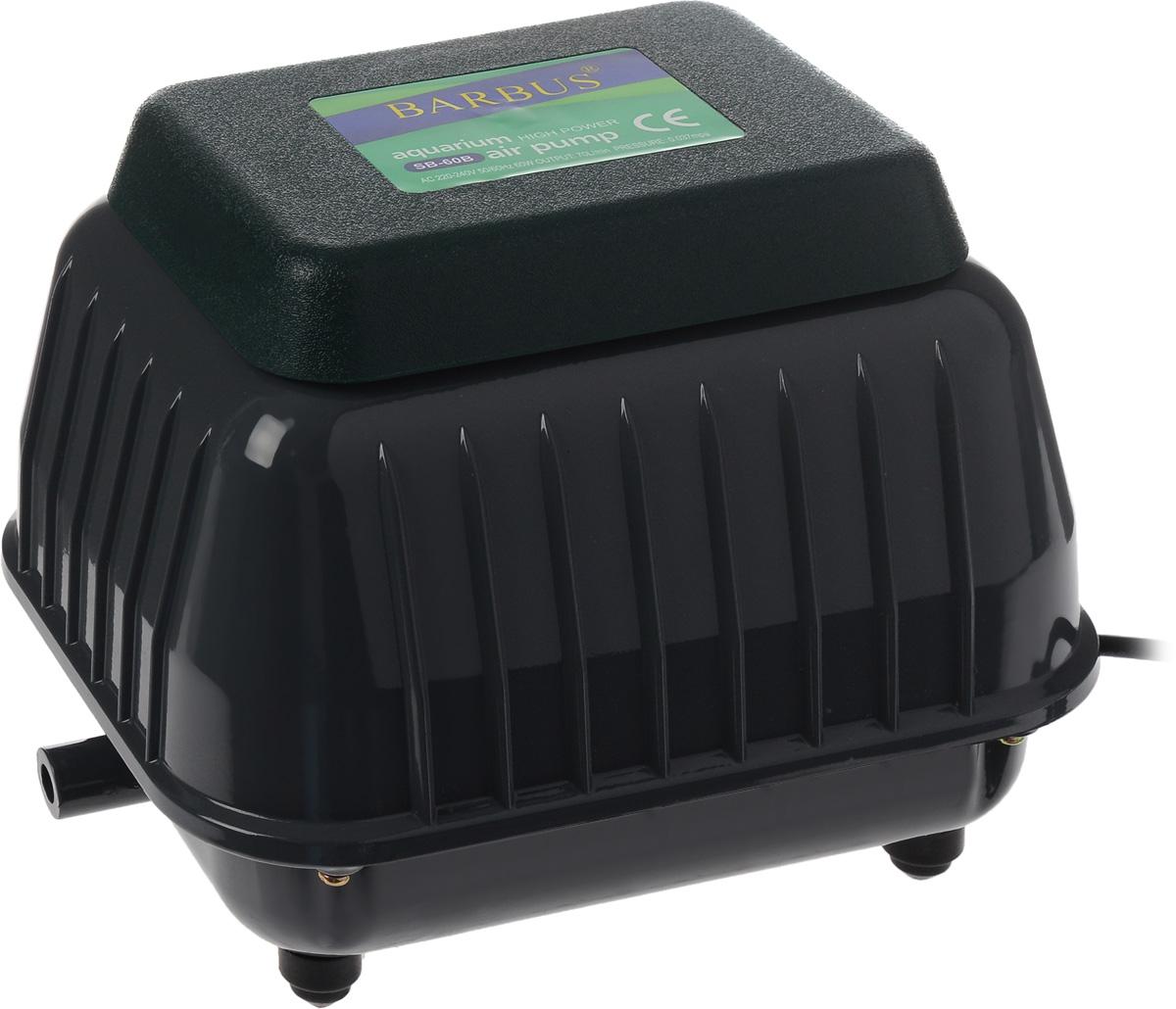 Компрессор воздушный аквариумный Barbus, 60 ВтSB-60BВоздушный аквариумный компрессор Barbus выполнен из прочного металла и пластика. Современная резиновая мембрана и клапан гарантируют долгий срок службы. Изделие обладает уникальной структурой с хорошим тепловыделением и низким уровнем шума. Компрессор имеет широкий спектр использования в рыбной ферме, пруду, аквариуме. Снизу расположены резиновые ножки, обеспечивающие устойчивость и не царапающие поверхность. Мощность: 60 Вт. Напряжение: 220-240В. Частота: 50/60 Гц. Производительность: 70 л/мин. Количество выходов гребенки: 14.