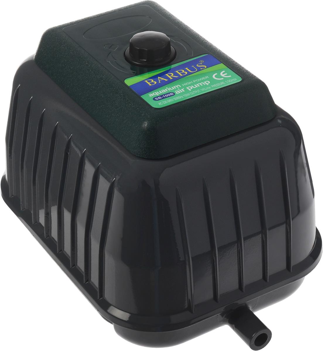 Компрессор воздушный аквариумный Barbus, 100 ВтSB-100BВоздушный аквариумный компрессор Barbus выполнен из прочного металла и пластика. Современная резиновая мембрана и клапан гарантируют долгий срок службы. Изделие обладает уникальной структурой с хорошим тепловыделением и низким уровнем шума. Компрессор имеет широкий спектр использования в рыбной ферме, пруду, аквариуме. Снизу расположены резиновые ножки, обеспечивающие устойчивость и не царапающие поверхность. Мощность: 100 Вт. Напряжение: 220-240В. Частота: 50/60 Гц. Производительность: 140 л/мин. Количество выходов гребенки: 33.